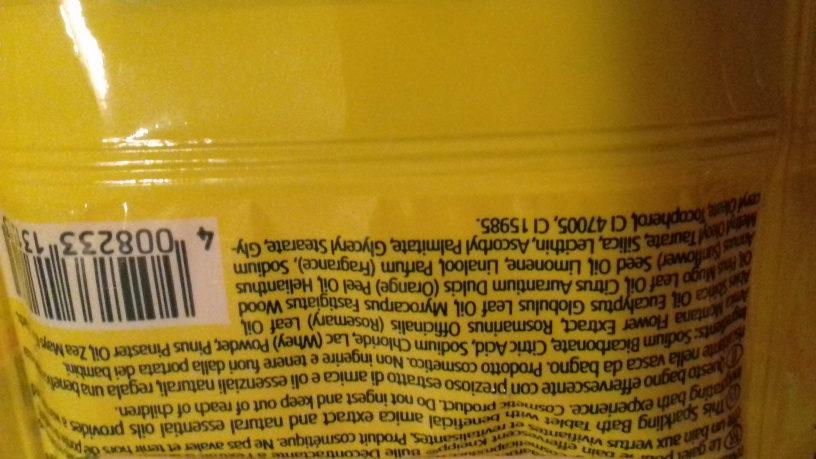 galet pour le bain bulle décontractante - Ingredients - fr