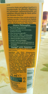 Kneip Sekunden-Handcreme - Ingredients - de