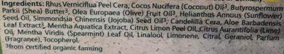 Soin Lèvres Menthe aquatique - Aloe Vera - Ingredients - fr