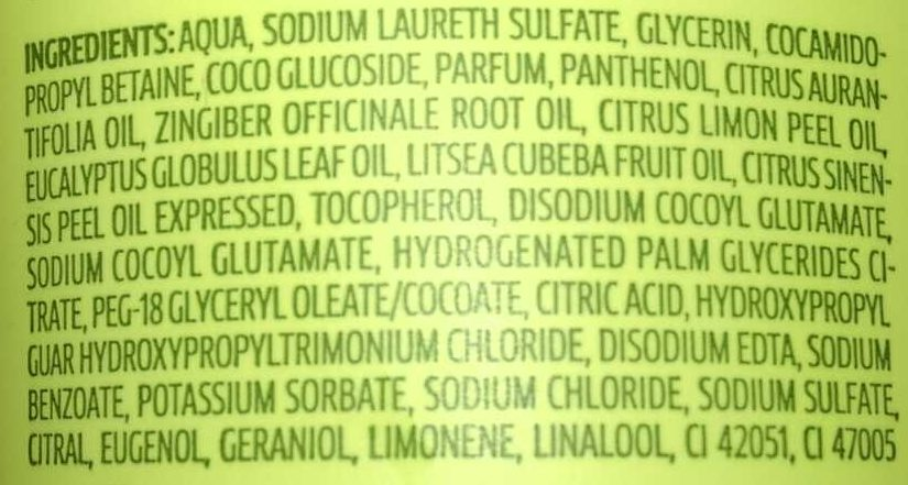 Hallo Happiness Ginger Lemon - Ingredients
