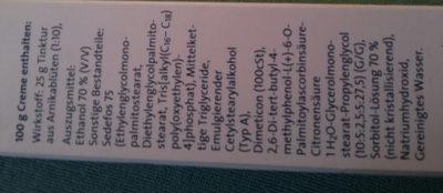 Annika Schmerzsalbe stark Wirkstoff arnikablüten Tinktur Abschwellen entzündungshemmend schmerzlindernd hochdosierten 25% Wirkstoff - Ingredients