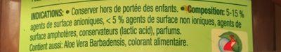 Ecologique - Ingrédients