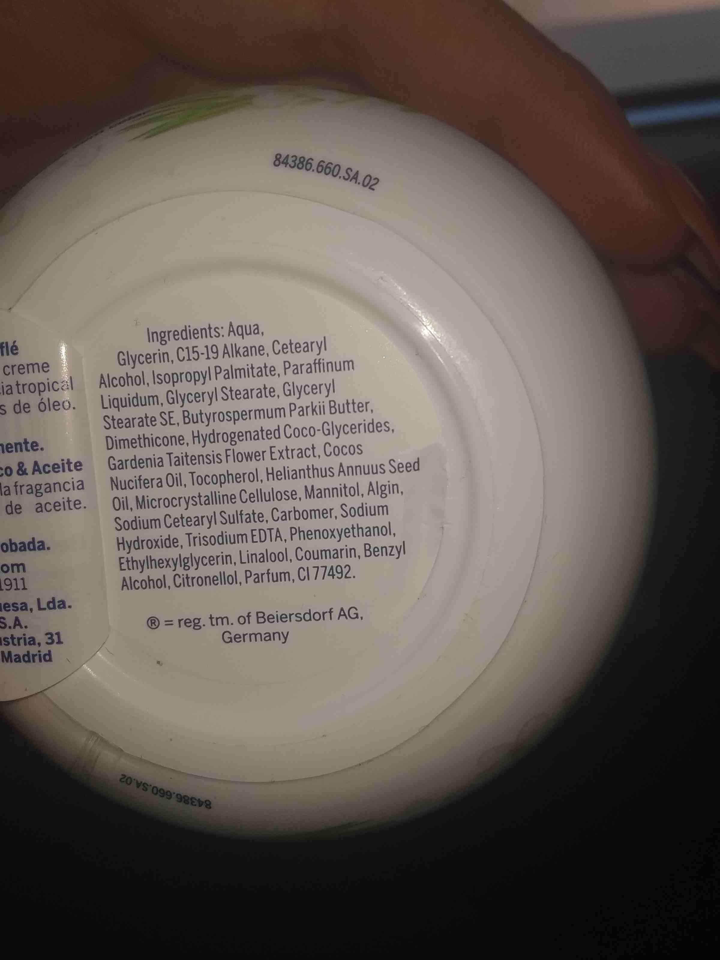 Nivea coconut - Ingredients - en