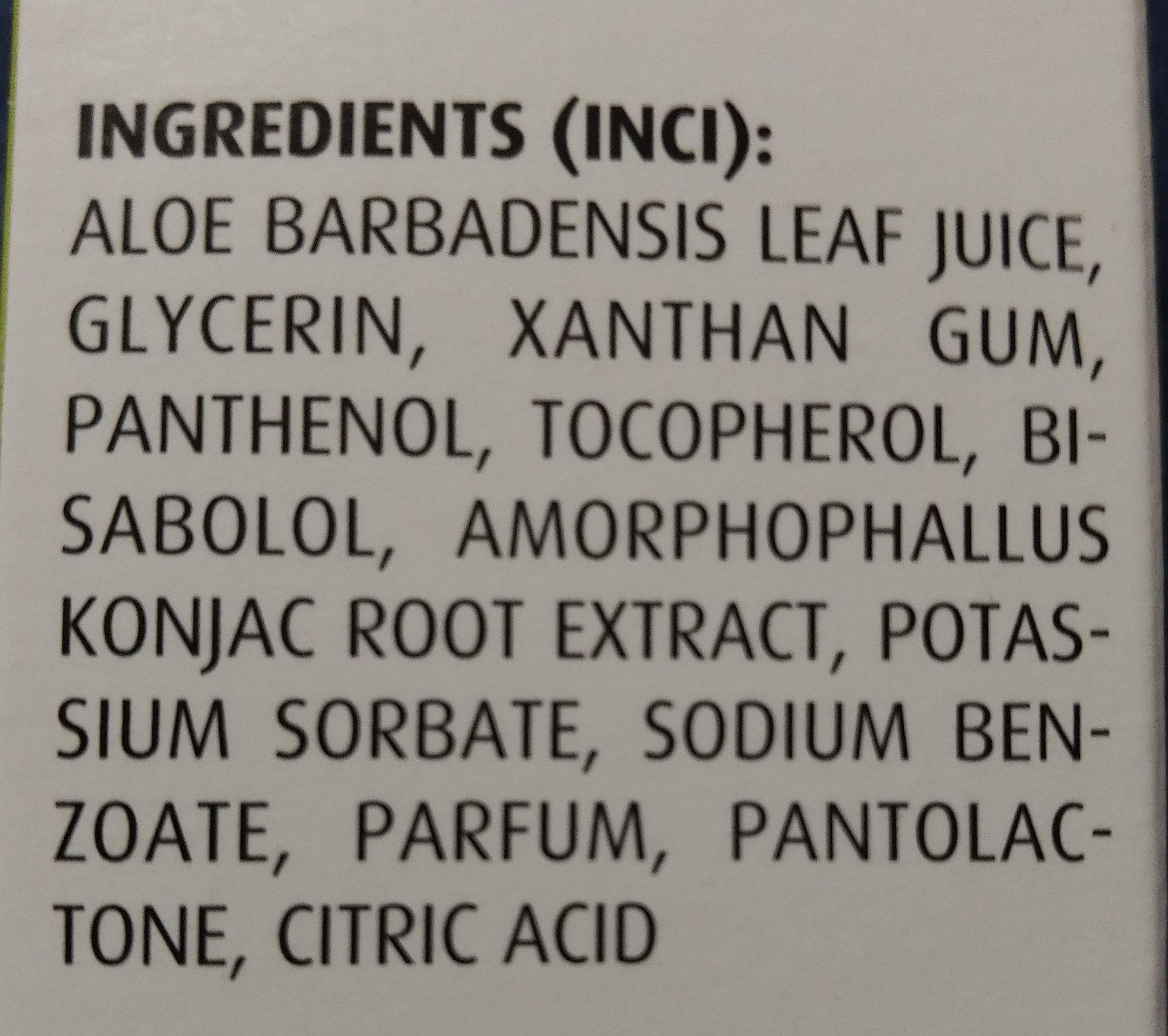 Aloe Vera Gel - Ingredients - de