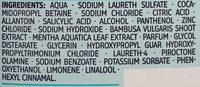 Anti-Schuppen Shampoo Wasserminze & Bambus - Ingredients