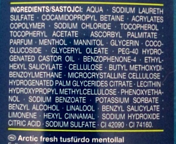 Arctic Fresh Duschgel - Ingredients - de