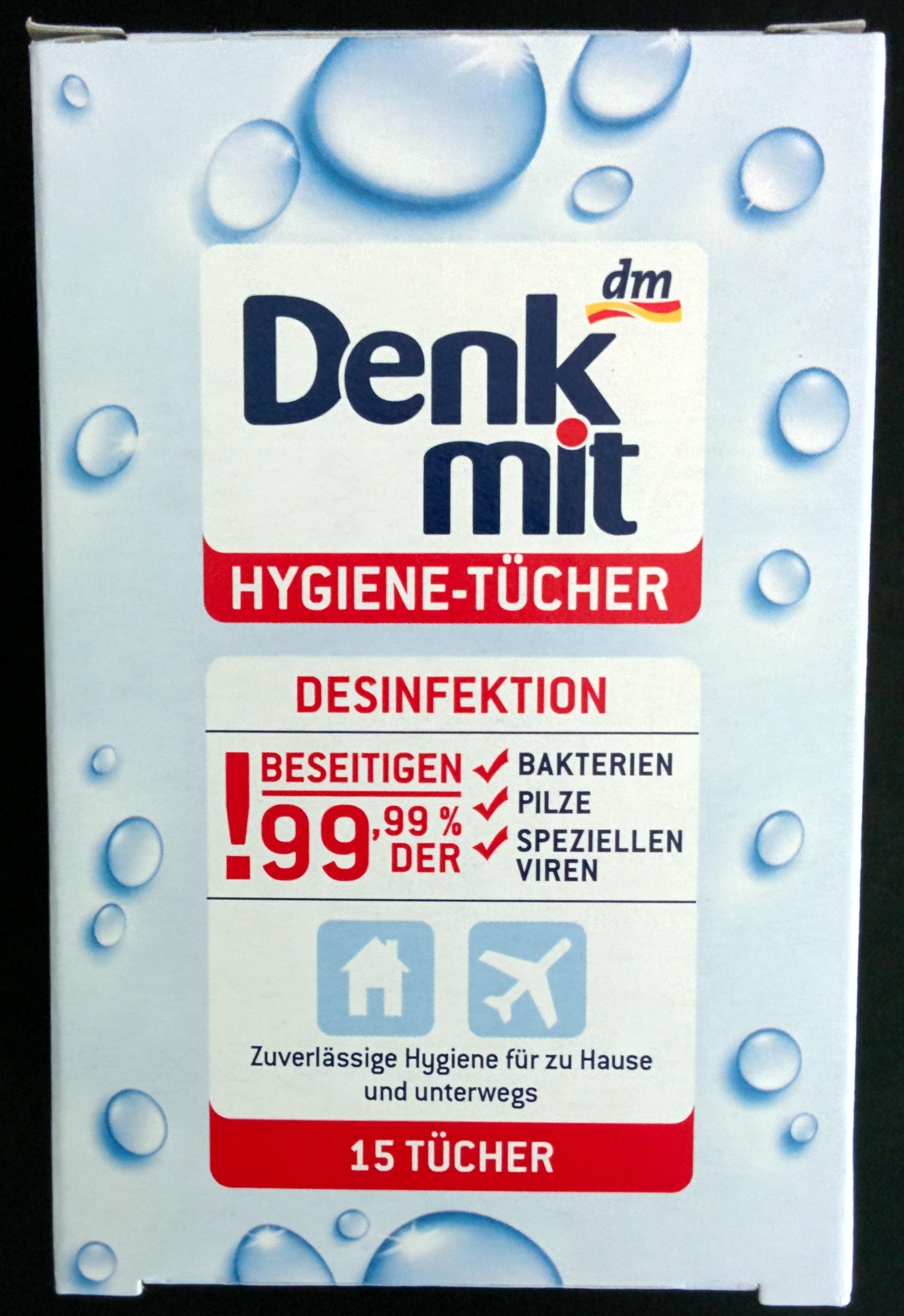 Hygiene-Tücher - Desinfektion - 15 Tücher - Product
