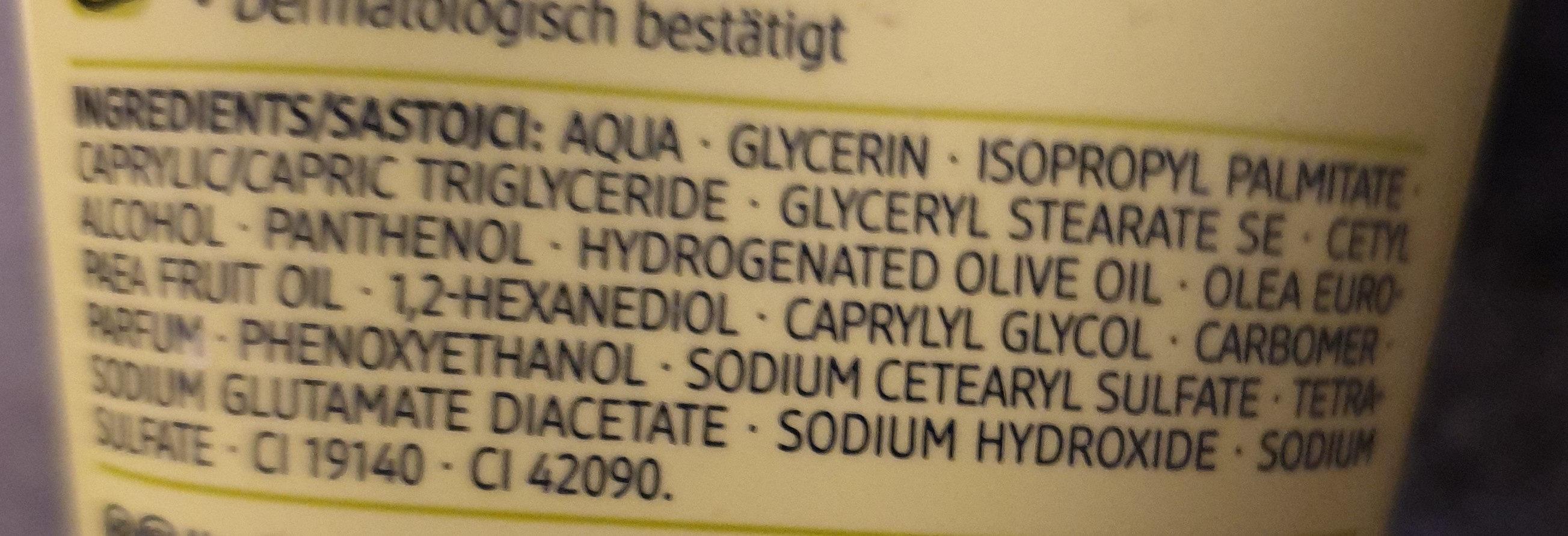 Handcreme Olive - Ingredients - de