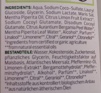 Pflegedusche Bio-Minze Bio-Bergamotte - Ingrédients - de