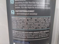 Balea MEN Power Effect Anti-Schuppen Shampoo - Ingredients - de