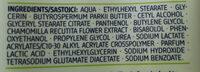 Hand & Nagel Balsam Kamille - Ingredients - en