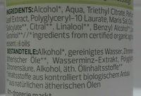 Deozerstäuber Wasserminze Meeresmineralien - Ingredients - de