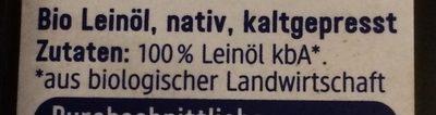 DmBio Leinöl Nativ 250 ML - Ingredients - fr