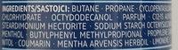 fresh Anti-Transpirant - Ingredients - de