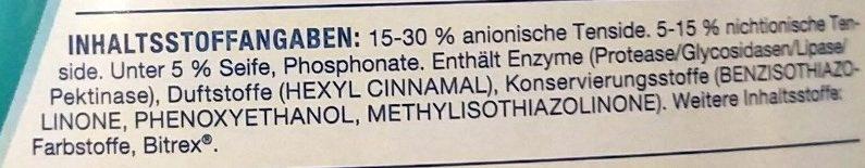 Colorwaschmittel - Ingredients - de