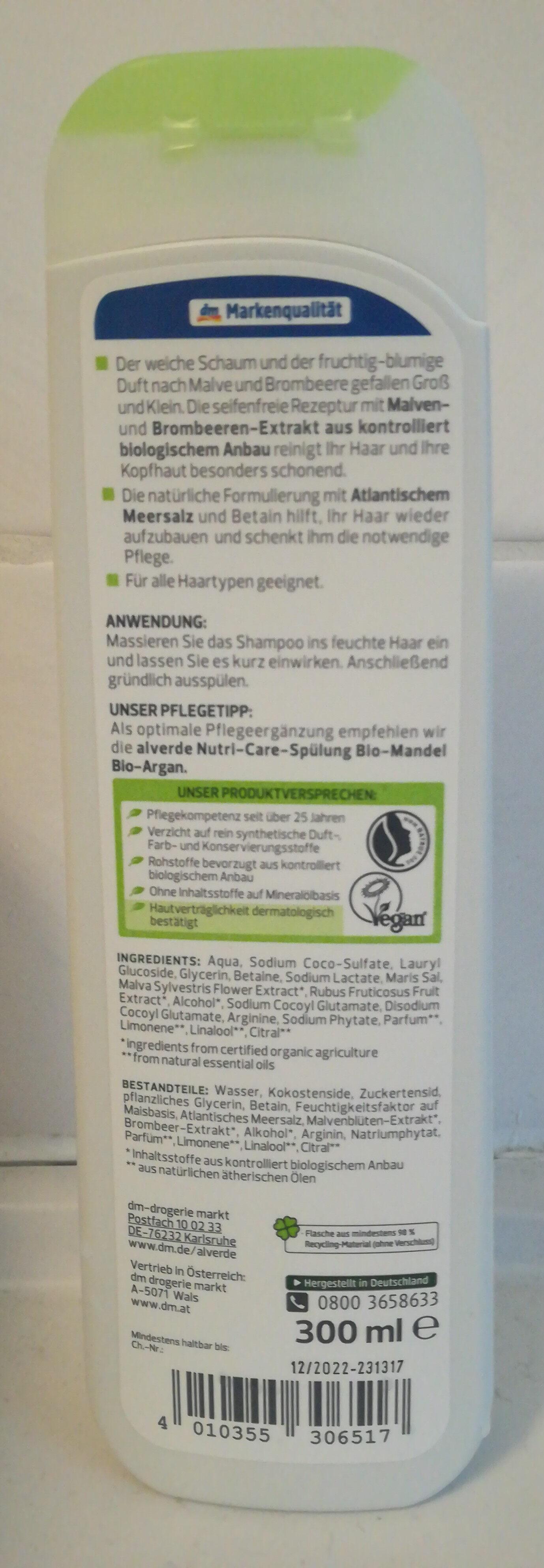 Family Shampoo Bio-Malve Bio-Brombeere strapaziertes Haar - Product - en