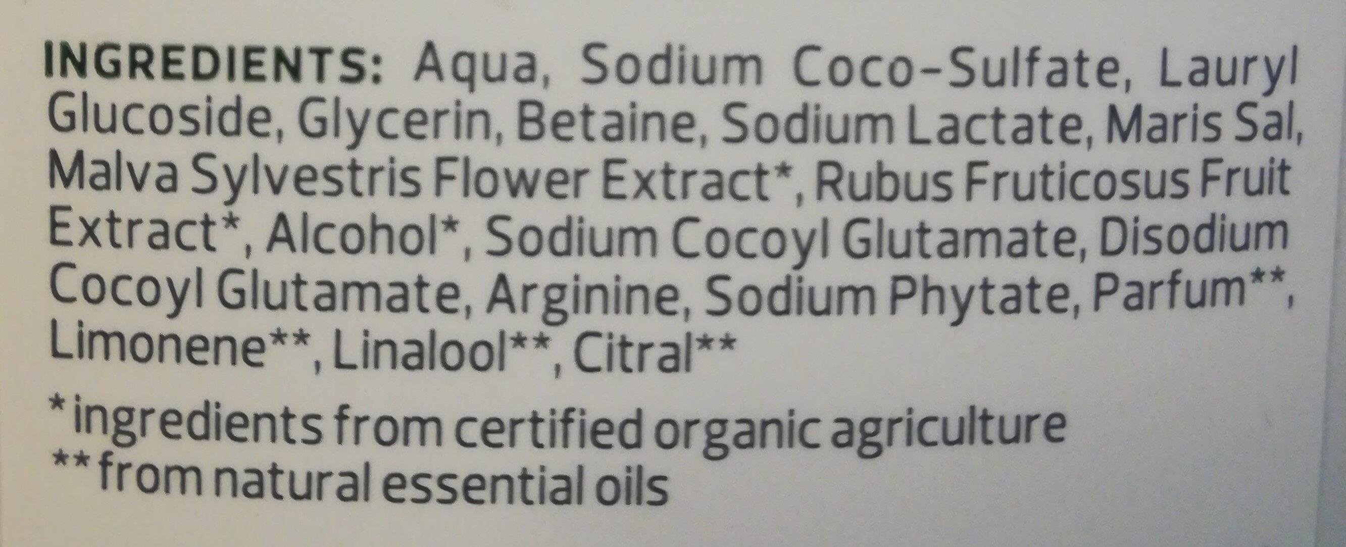 Family Shampoo Bio-Malve Bio-Brombeere strapaziertes Haar - Ingrédients - de