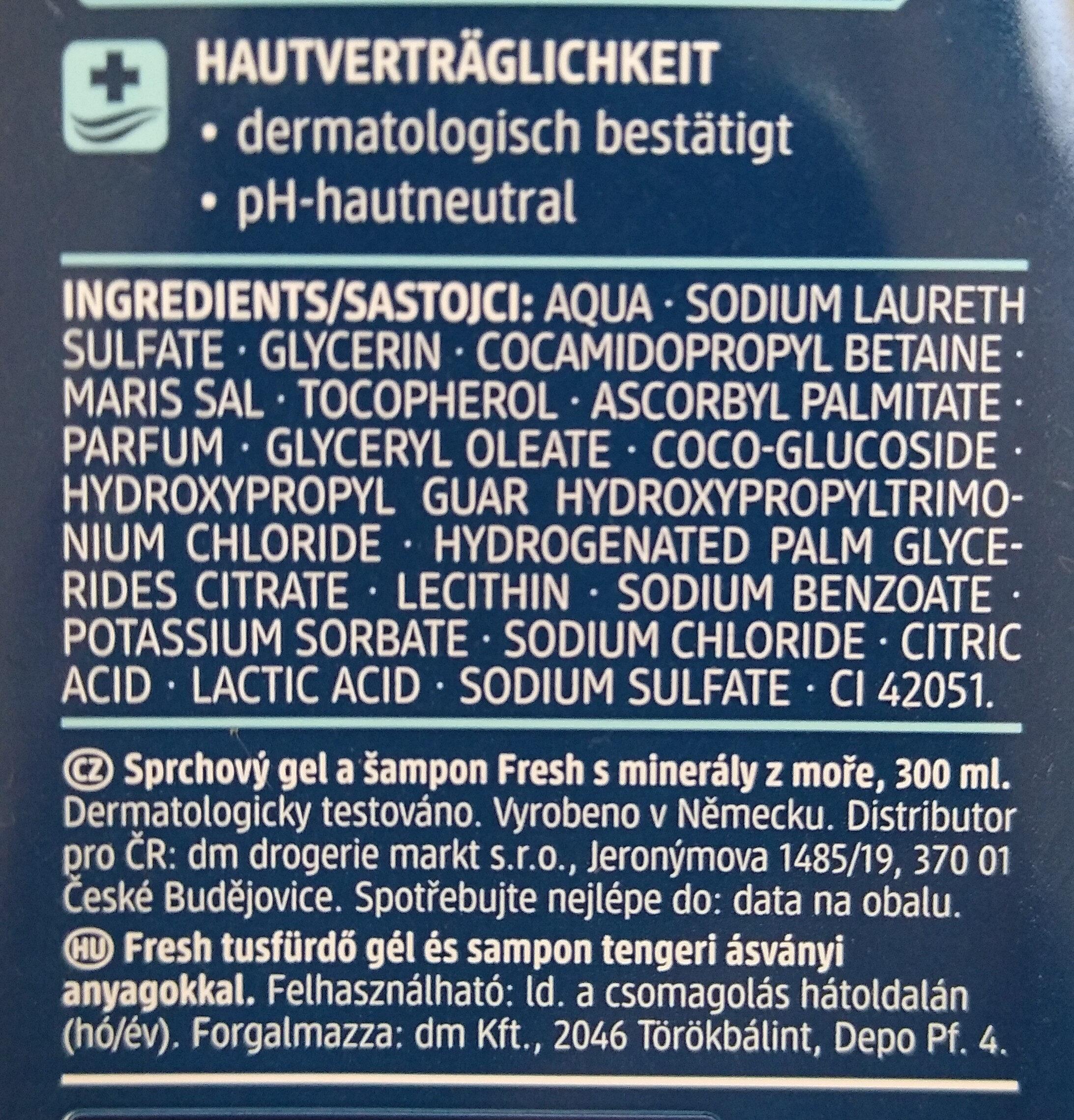 fresh Duschgel - Ingredients