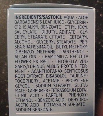Sensitive Tagescreme - Ingredients
