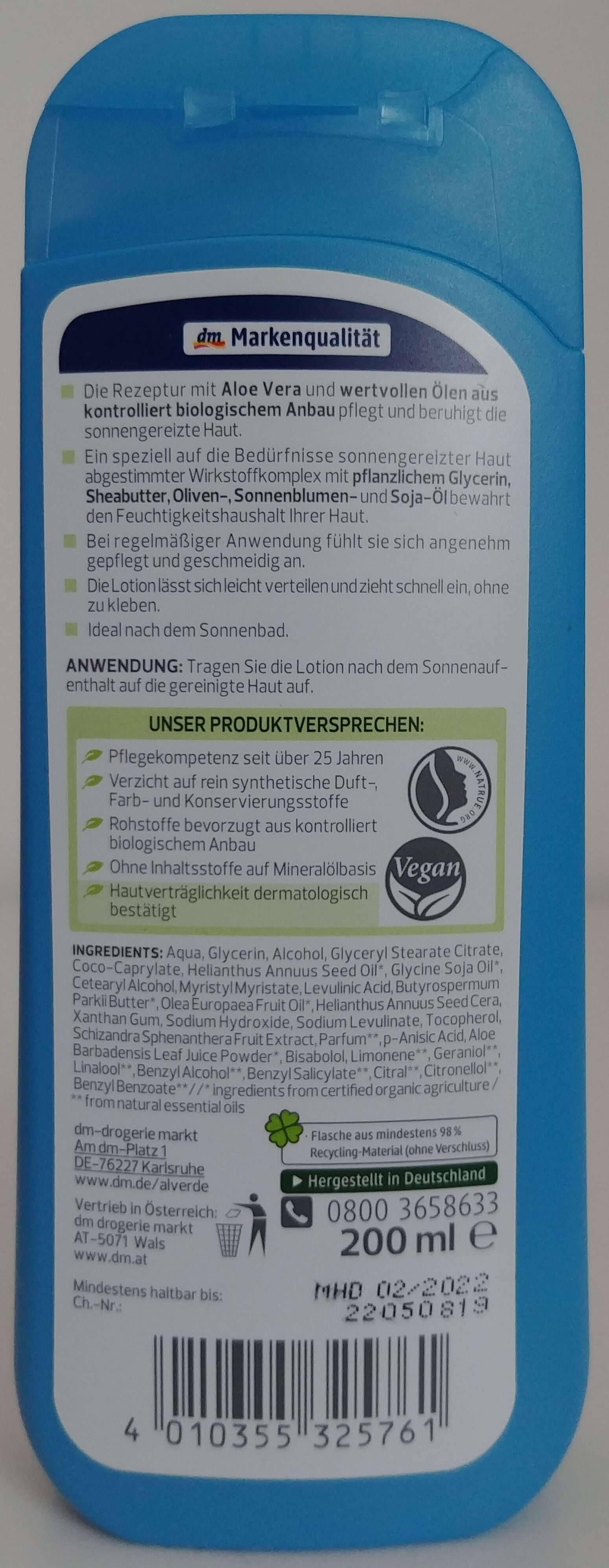 Après-Lotion Bio-Aloe Vera - Product - en