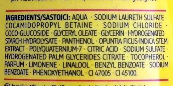 Duschgel Jamaica Vibes - Ingredients - de