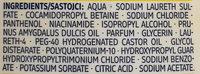 Shampoo Intensiv Pflege mit Vanille-Duft und Mandelöl - Ingredients - de