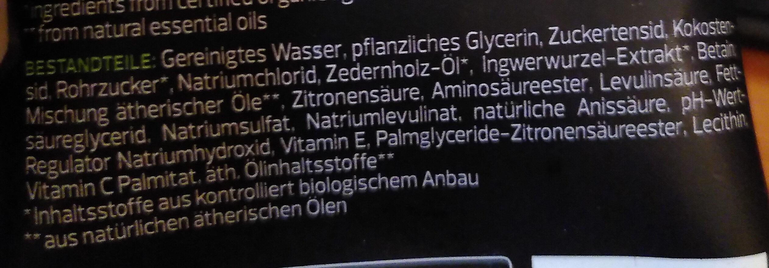 Rough Nature Shower Gel Men - Ingredients - de