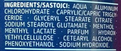 Anti Transpirant fresh - Ingredients