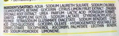 Creme Seife Ginger & Lemon - Ingredients