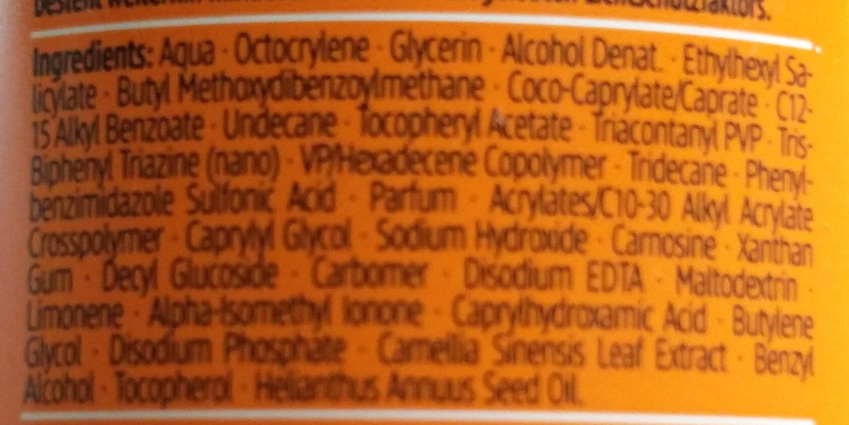 Sonnenmilch 30 (hoch) - Ingredients - de