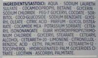 Sensitive Duschgel - Ingredients
