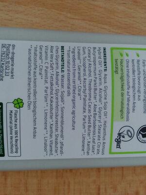 Hydro Körperlotion Bio-Aloe Vera - Ingredients - de