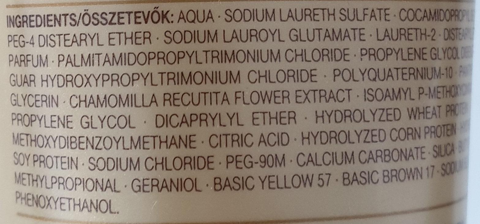 Blond Shampoo - Ingredients