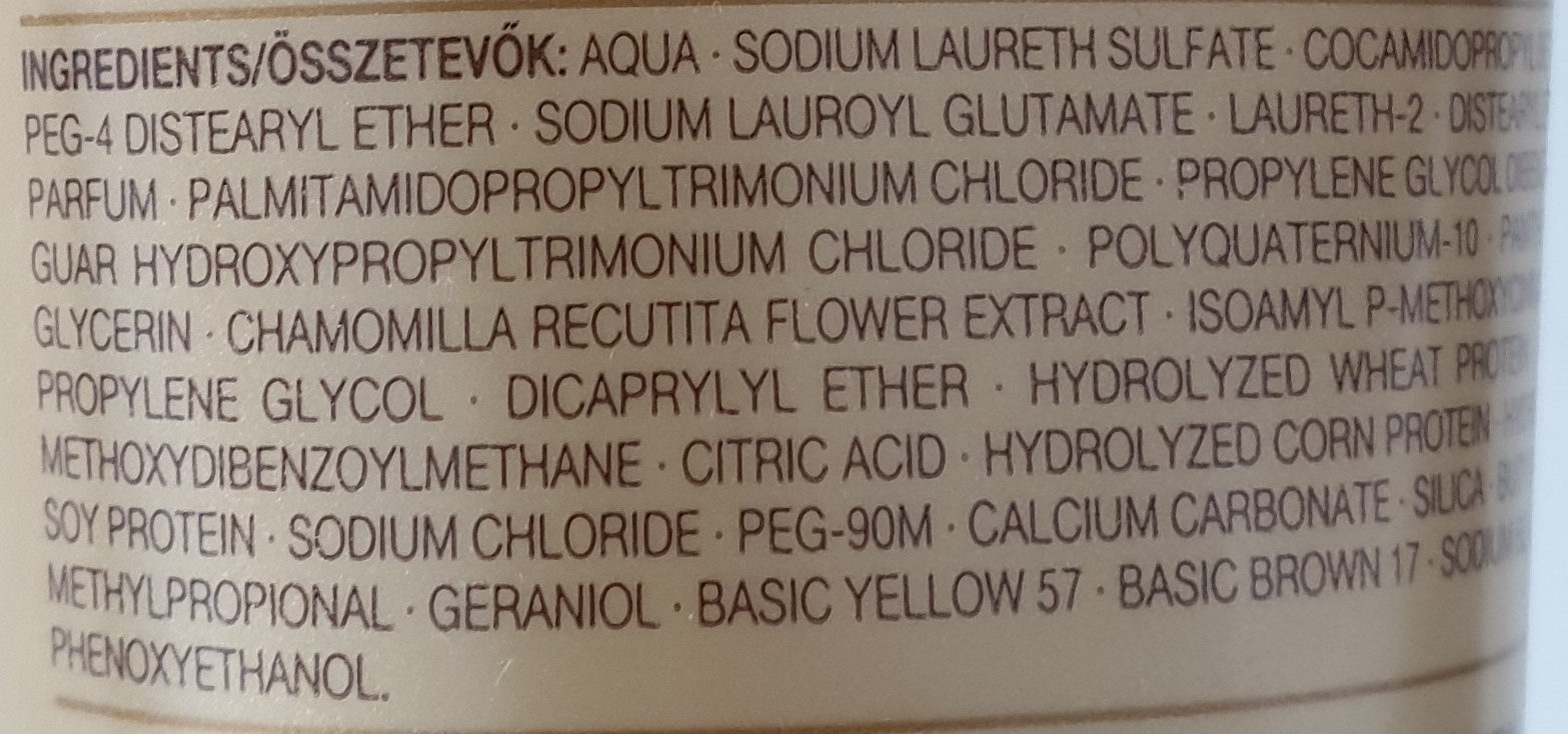 Blond Shampoo - Ingredients - de