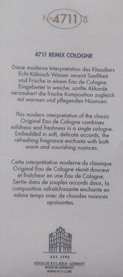 no 4711 Remix Cologne Anniversary Edition - Product - en