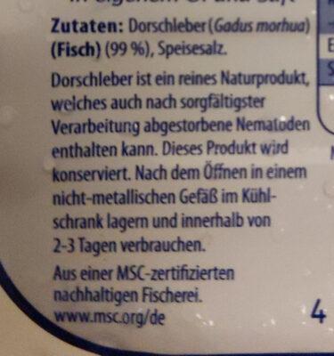 Dorschleber - Ingredients - de