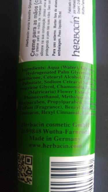 wuta kamille + glycerine - Ingredientes