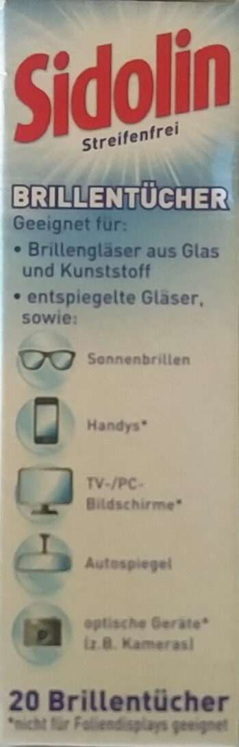 Streifenfrei Brillentücher - Product - en