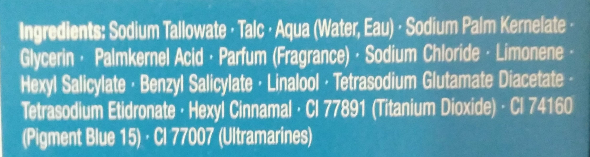 Vitalizing Aqua Festseife mit aquatisch-frischem Duft - Ingredients - de