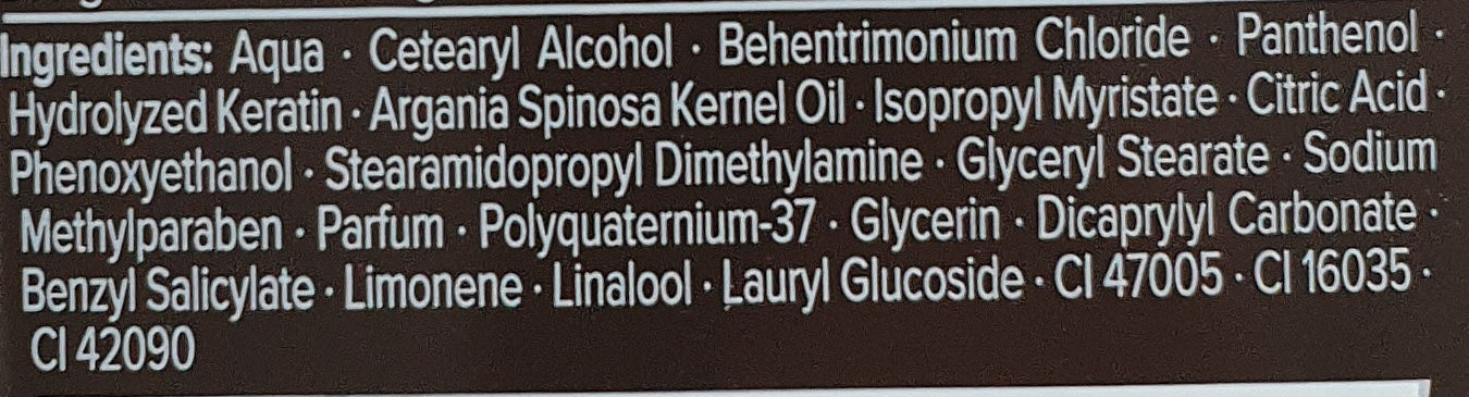 Cream & Oil Intensiv-Pflege-Spülung - Ingredients - de