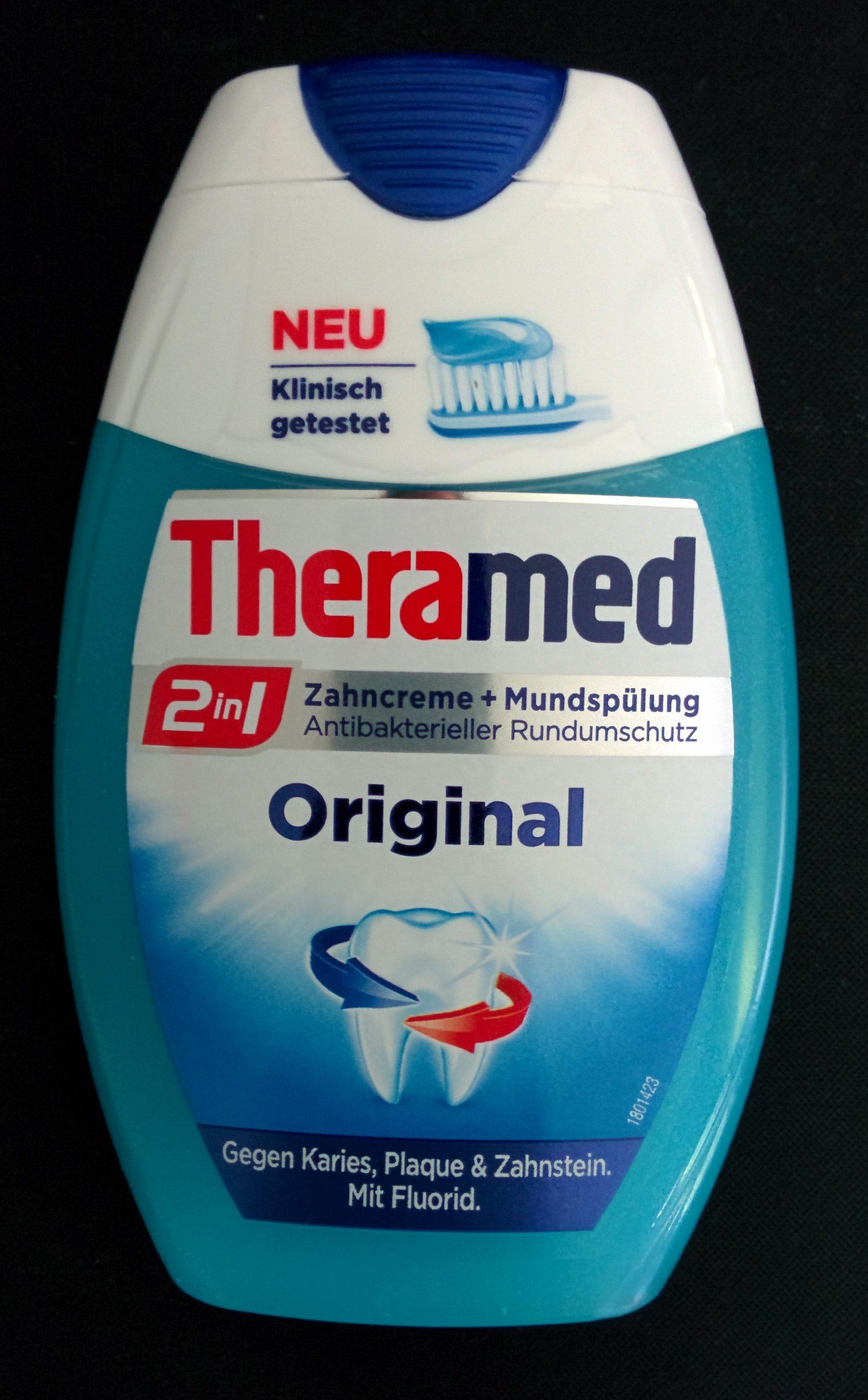 2 in 1 - Zahncreme + Mundspülung - Original - Product - de