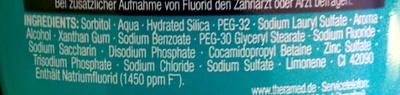 2 in 1 - Zahncreme + Mundspülung - Original - Ingredients
