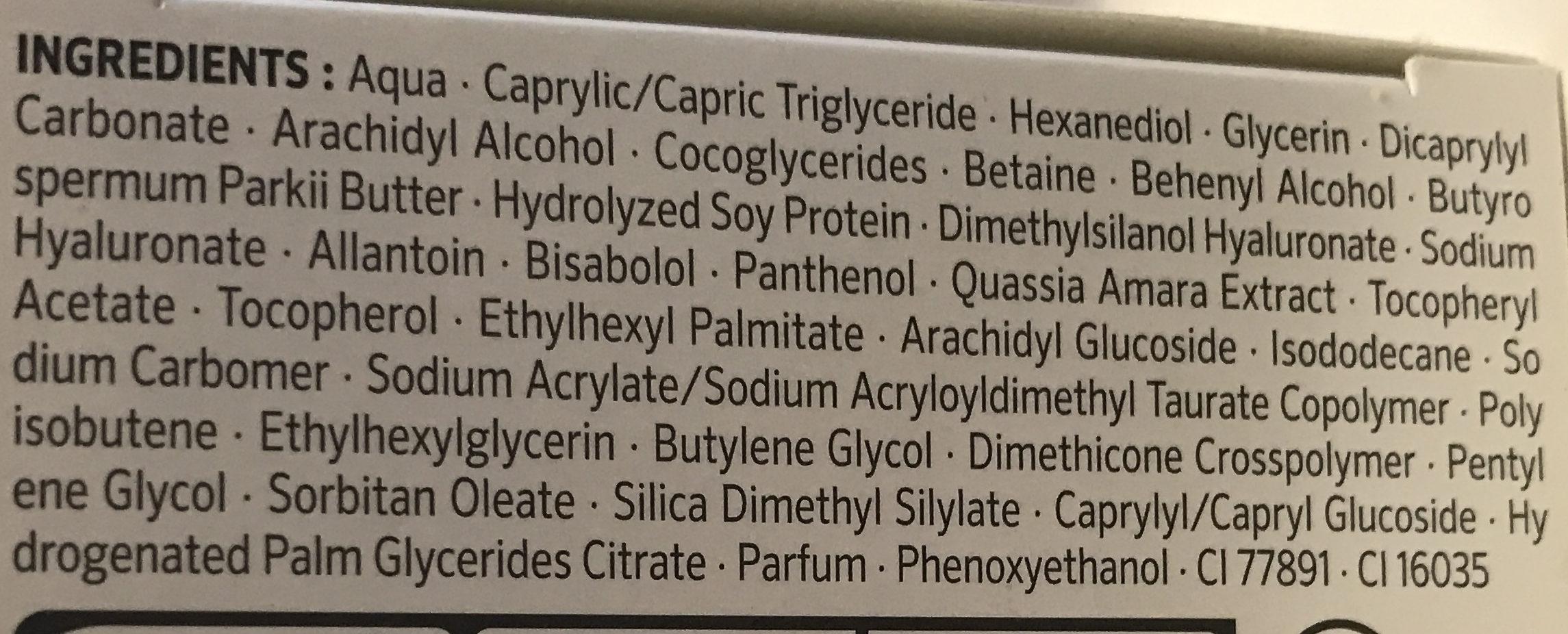 Lift+ Hydratante Soin de jour - Ingrédients - fr