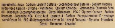 Pro-Vutamin B5 Shampoo - Ingredients - de