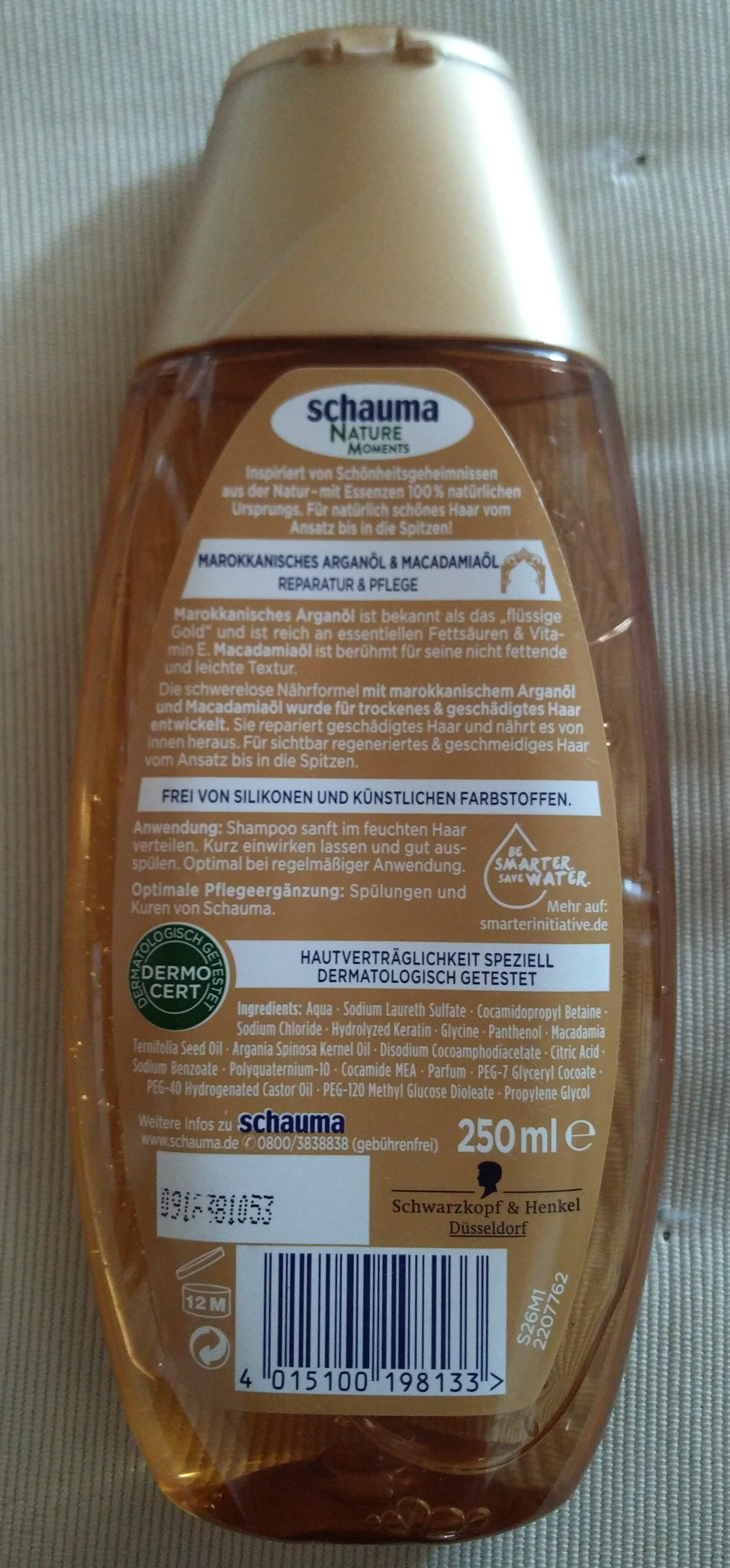 Nature Moments - Shampoo (Marokkanisches Arganöl & Macadamiaöl) - Product - en