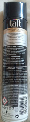 3 Wetter Taft Invisible Power Haarspray - Product - en