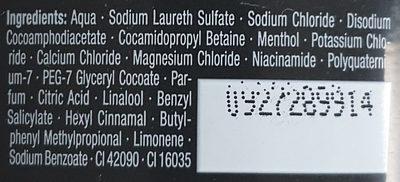 Duschgel Fan edition - Ingredients