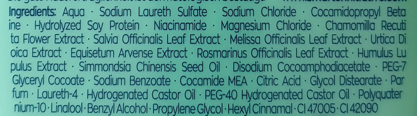 7-Kräuter Shampoo - Ingredients