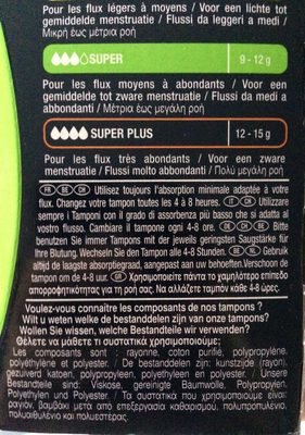 Tampons super avec applicateur - Product - fr