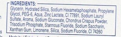 Dentifrice Pro Expert Dents Fortes - Ingredients - fr